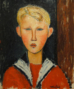 Art Prints of The Blue-eyed Boy by Amedeo Modigliani