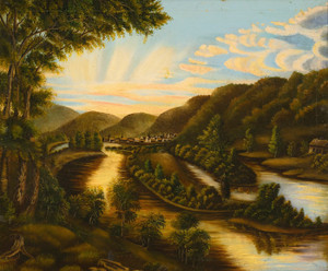A View of Blennerhasset Island, West Virginia, American School | Fine Art Print