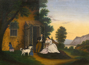 Art Prints of Family in a New England Landscape, American School