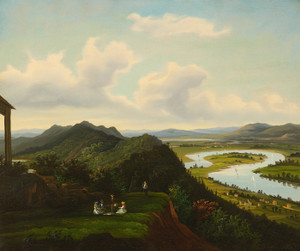 A View of the Oxbow from Mount Holyoke, Massachusetts, American School | Fine Art Print