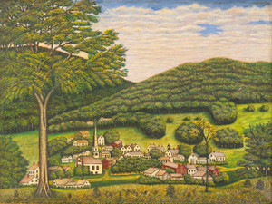 Art Prints of A View of Forestville, New York, American School