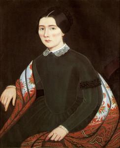 Art Prints of Portrait of Emily Miner Fox by Ammi Phillips