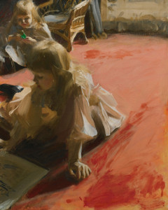 Art Prints of A Portrait of the Daughters of Ramon Subercaseaux by Anders Zorn