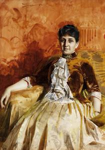 Art Prints of Portrait of Lisen Lamm by Anders Zorn