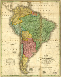 Art Prints of Map of South America by Anthony Finley