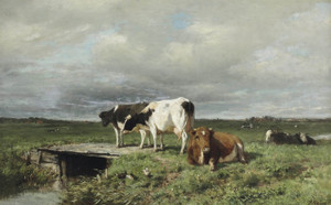 Art Prints of Cattle in an Extensive Polder Landscape by Anton Mauve