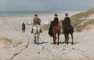 Art Prints of Morning Ride on the Beach by Anton Mauve