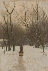 Art Prints of Winter in the Scheveningen Bushes by Anton Mauve