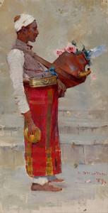 Art Prints of Eqyptian Drink Vendor by Arthur Streeton