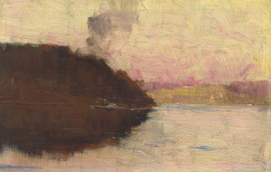 Art Prints of The Point, Sunset by Arthur Streeton