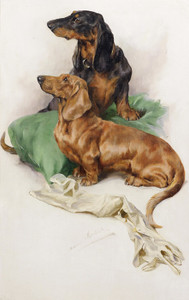 Art Prints of The Dachshunds by Arthur Wardle