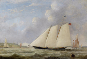 Art Prints of The America off Ryde, Isle of Wight by Arthur Wellington Fowles