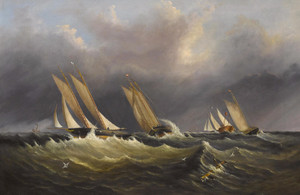Art Prints of Yachting on the Solent by Arthur Wellington Fowles