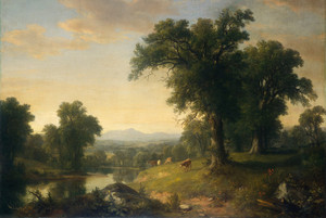 Art Prints of A Pastoral Scene by Asher Brown Durand
