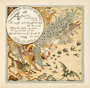 Art Prints of Neither Beast Nor Bird, Aesop's Fables