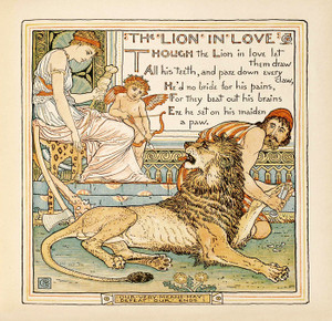 Art Prints of The Lion in Love, Aesop's Fables