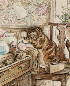 Art Prints of Simpkin Housekeeping by Beatrix Potter
