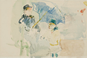 Art Prints of At the Beach in Nice by Berthe Morisot