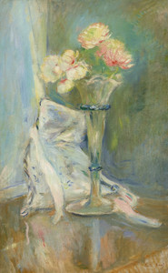 Art Prints of Anemones and Roses by Berthe Morisot