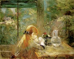 Art Prints of On the Veranda by Berthe Morisot