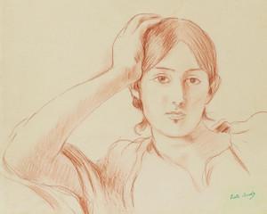 Art Prints of Portrait of Jeanne Pontillon by Berthe Morisot