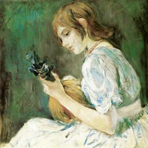 Art Prints of The Mandoline by Berthe Morisot