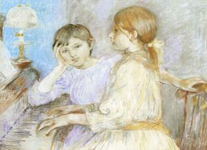 Art Prints of The Piano by Berthe Morisot