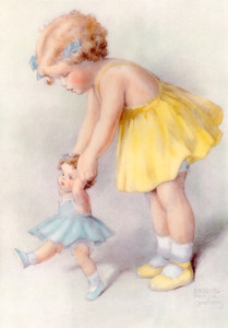 Art Prints of Life is Easier if You Have Help from a Friend by Bessie Pease Gutmann