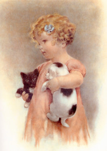 Art Prints of Josie Holds Mandy and Jake by Bessie Pease Gutmann
