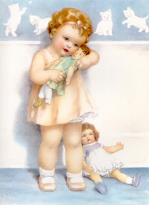 Art Prints of Josie was Given a Brand New Doll by Bessie Pease Gutmann