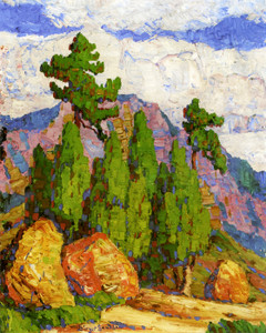 Art Prints of Pines and Junipers, Manitou, Colorado by Birger Sandzen