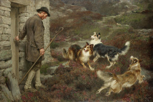 Art Prints of To the Hills by Briton Riviere