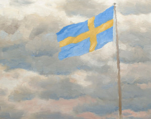 Art Prints of Swedish Flag by Bruno Liljefors
