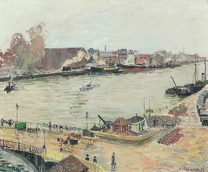 Art Prints of The Seine Bridge at Boieldieu by Camille Pissarro
