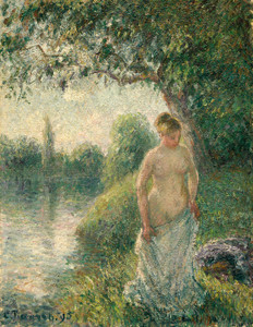 Art Prints of The Bather by Camille Pissarro