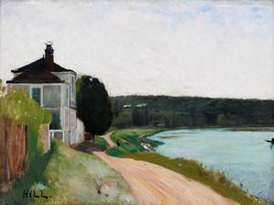 Art Prints of Villa at Seine Bois-le-Roi Fontainebleau by Carl Frederik Hill