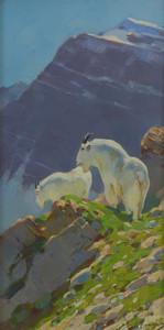 Art Prints of Mountain Goats III by Carl Rungius