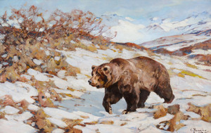 Art Prints of Alaskan Brown Bear by Carl Rungius