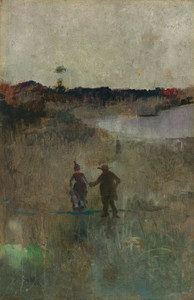 Art Prints of Landscape with Figures, Richmond, New South Wales by Charles Conder