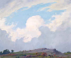 Art Prints of Coming Shower by Charles Courtney Curran