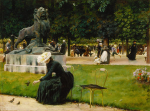 Art Prints of In the Luxembourg Garden by Charles Courtney Curran