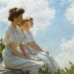 Art Prints of On the Heights by Charles Courtney Curran