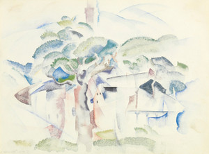 Art Prints of Trees and Houses, Provincetown by Charles Demuth