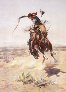 A Bad Hoss by Charles Marion Russell | Fine Art Print