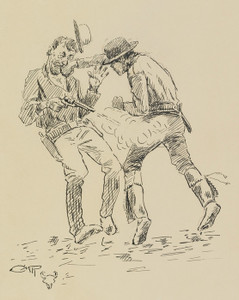 Art Prints of A Heated Argument by Charles Marion Russell