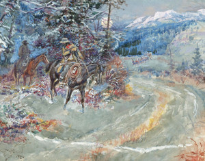 Art Prints of An Unscheduled Stop by Charles Marion Russell