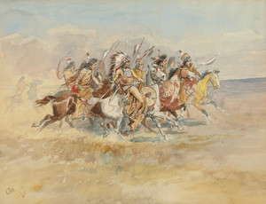 Art Prints of Blackfeet War Party by Charles Marion Russell