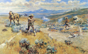 Art Prints of Buffalo Bill's Duel with Yellowhand by Charles Marion Russell