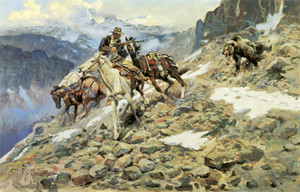 Art Prints of Crippled but Still Coming by Charles Marion Russell