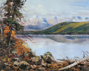 Art Prints of Glacier National Park, Lake McDonald, 1901 by Charles Marion Russell